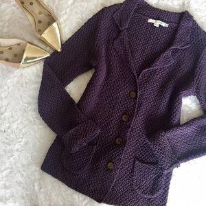 new // nwot boden • knit plum button cardigan